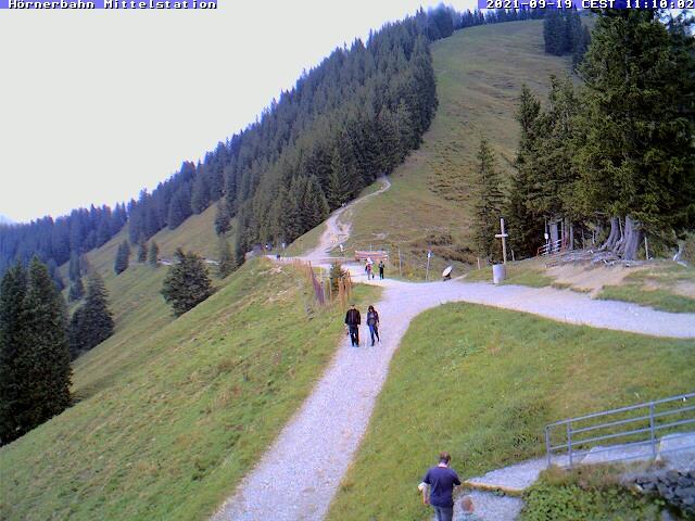 Webcame: Hörnerbahn Bergstation